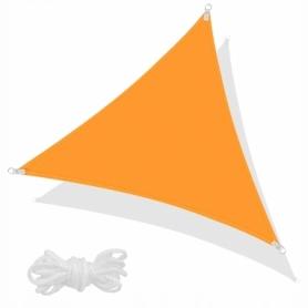 Тент-парус теневой для дома, сада и туризма Springos SN1019 Orange, 3x3x3 м