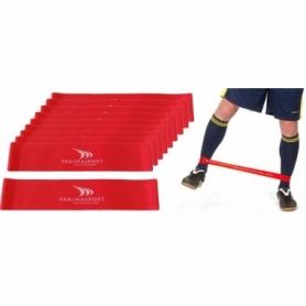 Эспандер для ног Yakimasport Mini Bands (100248) - красный, 20 шт