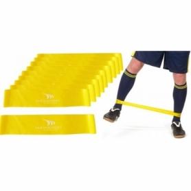 Эспандер для ног Yakimasport Mini Bands (100247) - желтый, 20 шт