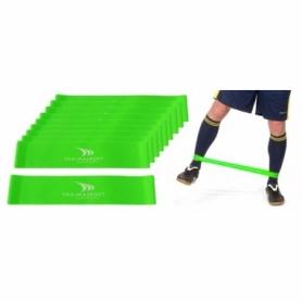 Эспандер для ног Yakimasport Mini Bands (100250) - зеленый, 20 шт