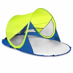 Палатка пляжная (тент) Spokey Stratus 926783, салатово-синяя