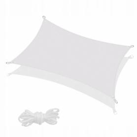 Тент-парус теневой для дома, сада и туризма Springos SN1035 Grey, 4x3 м