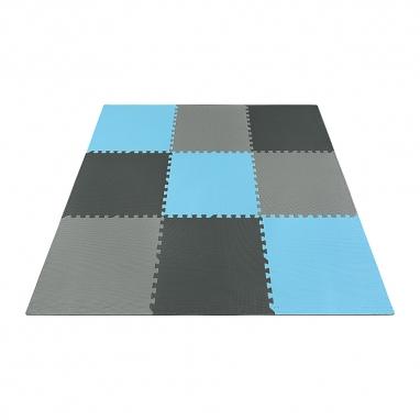 Мат-пазл (ласточкин хвост) 4Fizjo Mat Puzzle EVA 4FJ0156 Black/Grey/Light Blue, 180x180x1 cм