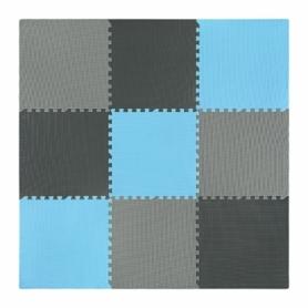 Мат-пазл (ласточкин хвост) 4Fizjo Mat Puzzle EVA 4FJ0156 Black/Grey/Light Blue, 180x180x1 cм - Фото №3