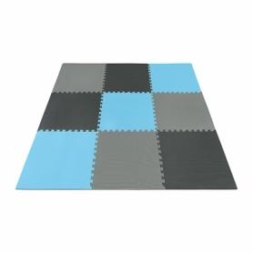Мат-пазл (ласточкин хвост) 4Fizjo Mat Puzzle EVA 4FJ0156 Black/Grey/Light Blue, 180x180x1 cм - Фото №5