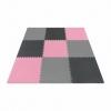 Мат-пазл (ласточкин хвост) 4Fizjo Mat Puzzle EVA 4FJ0157 Black/Grey/Pink, 180x180x1 cм - Фото №2
