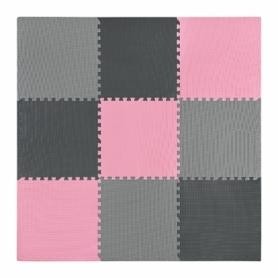 Мат-пазл (ласточкин хвост) 4Fizjo Mat Puzzle EVA 4FJ0157 Black/Grey/Pink, 180x180x1 cм - Фото №3