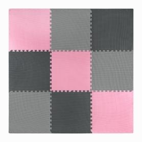 Мат-пазл (ласточкин хвост) 4Fizjo Mat Puzzle EVA 4FJ0157 Black/Grey/Pink, 180x180x1 cм - Фото №4