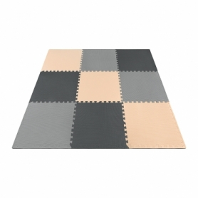 Мат-пазл (ласточкин хвост) 4FIZJO Mat Puzzle EVA 4FJ0158 Black/Grey/Biege, 180x180x1 cм