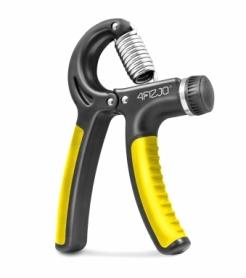 Эспандер кистевой пружинный с регулируемой нагрузкой 4Fizjo 4FJ0160 Black/Yellow, 10-40 кг