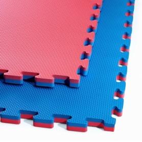 Татами ласточкин хвост 4Fizjo Mat Puzzle EVA 4FJ0167 Blue/Red, 100x100x2 cм