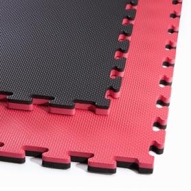 Татами ласточкин хвост 4Fizjo Mat Puzzle EVA 4FJ0168 Black/Red, 100x100x2 cм
