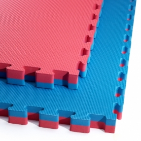 Татами ласточкин хвост 4Fizjo Mat Puzzle EVA 4FJ0169 Blue/Red, 100x100x4 cм