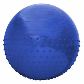 Мяч для фитнеса (фитбол) полумассажный SportVida Anti-Burst SV-HK0290 Blue, 55 см