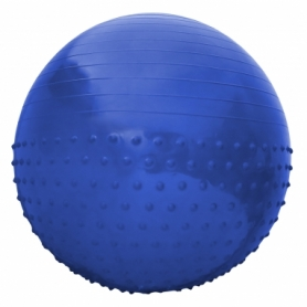 Мяч для фитнеса (фитбол) полумассажный SportVida Anti-Burst SV-HK0292 Blue, 65 см