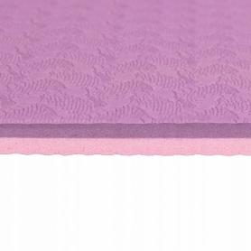 Коврик для йоги и фитнеса Springos TPE YG0015 Purple/Pink, 183х61х0.6 см - Фото №3