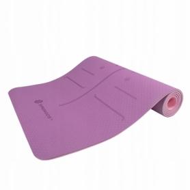 Коврик для йоги и фитнеса Springos TPE YG0015 Purple/Pink, 183х61х0.6 см - Фото №5