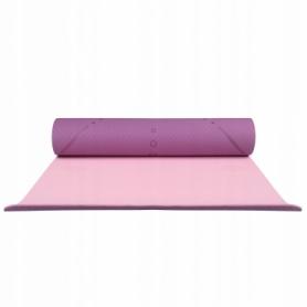 Коврик для йоги и фитнеса Springos TPE YG0015 Purple/Pink, 183х61х0.6 см - Фото №8