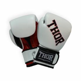 Перчатки боксерские Thor Ring Star (536/01(PU)WHITE/RED/BLK) - бело-красно-черные