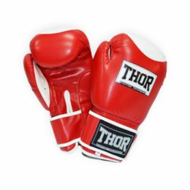 Перчатки боксерские Thor Competition (500/01(Leath) RED/WHITE)