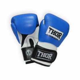 Перчатки боксерские Thor Pro King (8041/03(PU) B/Wh/Bl) - сине-бело-черные