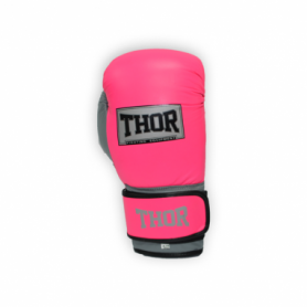 Перчатки боксерские Thor Typhoon (8027/02(PU) Pink/Grey/W) - розово-бело-серые
