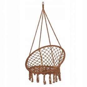 Кресло-качели (плетеное) Springos SPR0023, коричневое