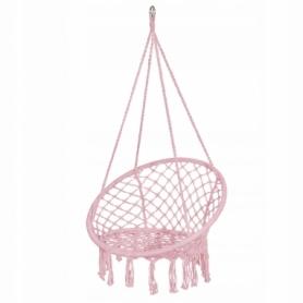 Кресло-качели (плетеное) Springos SPR0021, розовое