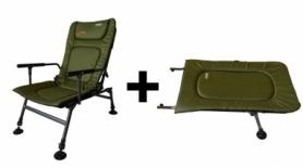 Кресло рыболовное, карповое Novator SR-2 + Подставка Novator POD-1 (NV-201917P)