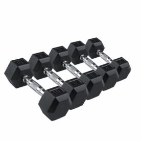 Гантель профессиональная обрезиненная Spart (DB6101), 80 кг