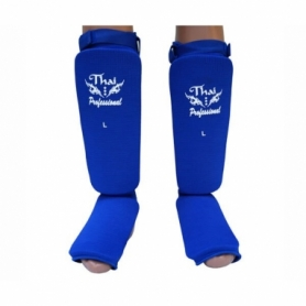 Защита для ног (голень + стопа) трикотажная Thai Professional SG5 (FP-192-V) - синяя