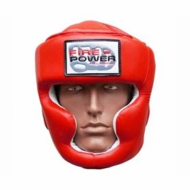 Шлем боксерский FirePower FPHG3, красный