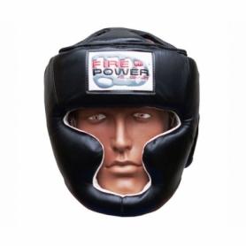 Шлем боксерский FirePower FPHG3, черный