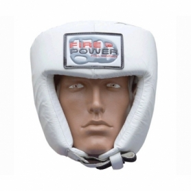 Шлем боксерский FirePower FPHG2, белый