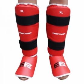 Защита для ног (голень + стопа) FirePower FPSGA9 (FP-1048-V) - красная