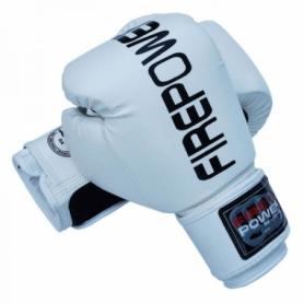 Боксерские перчатки FirePower FPBGА1, белые