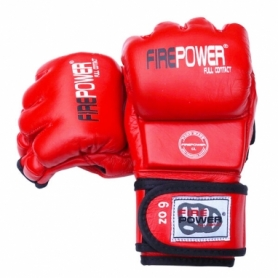 Перчатки MMA FirePower FPMG3 (FP-1782-V) - красные