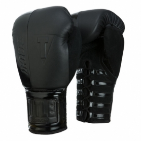 Перчатки боксерские TITLE Boxing Black Blast Lace Training Gloves (FP-2912-V)