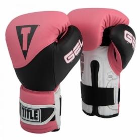 Перчатки боксерские Title Boxing Gel Suspense Training (FP-2921-V) - розовые