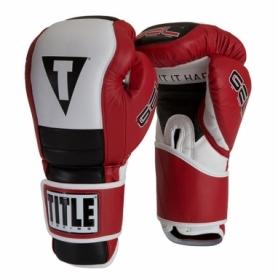 Перчатки боксерские Title Boxing Gel Rush Training (FP-2945-V) - красные