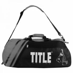 Сумка-рюкзак TITLE Boxing World Champion Sports NEW (FP-3212), черная с серым