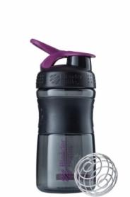Бутылка спортивная-шейкер BlenderBottle SportMixer 590ml Black/Plum