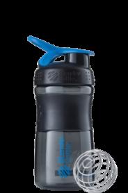 Бутылка спортивная-шейкер BlenderBottle SportMixer 590ml Black/Cyan