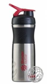 Бутылка спортивная-шейкер BlenderBottle SportMixer Stainless Steel Red 820мл (из нержавеющей пищевой cтали)