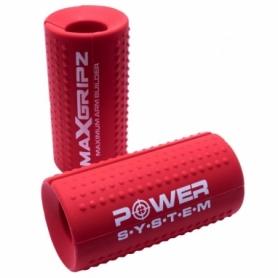 Расширители грифа Power System Max Gripz PS-4056 M 10*5 см Red (расширитель хвата), 2шт.