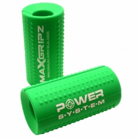 Расширители грифа Power System Max Gripz PS-4056 M 10*5 см Green (расширитель хвата), 2шт.