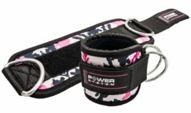 Манжеты на лодыжку Power System Ankle Strap Camo (PS-3470_Pink), розовые