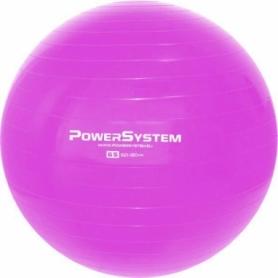 Мяч для фитнеса (фитбол) 65 см Power System Pro Gymball PS-4012, розовый