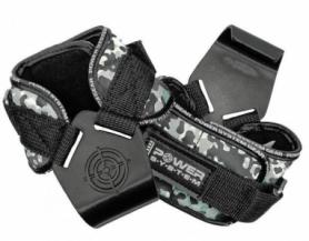 Крюки для тяги на запястья Power System Hooks Camo (PS-3370 Black/Grey)