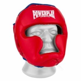 Шлем боксерский тренировочный PowerPlay 3068 PU + Amara (PP_3068_Red/Blue) - красно-синий